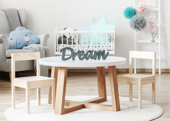 children's bedroom furniture - kiddies table and chairs