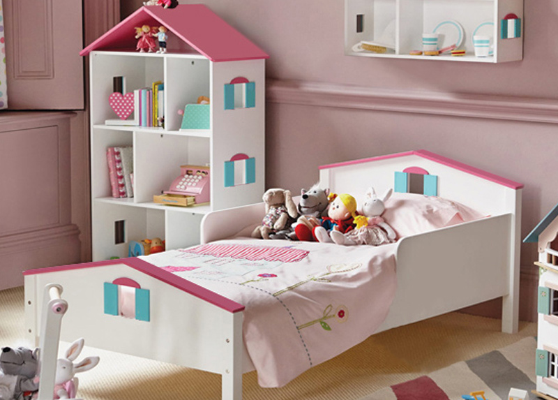 dollhouse bed for little girl - children's bedroom furniture
