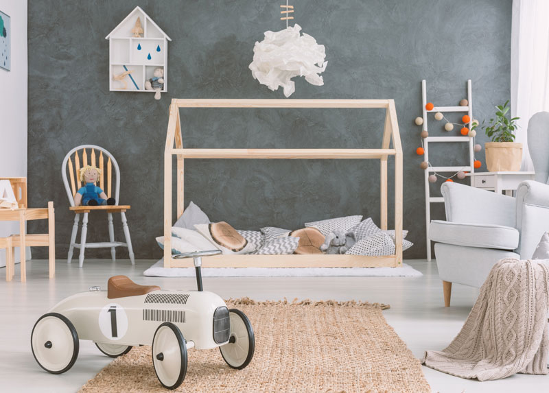 house frame bed - children's furniture for boys