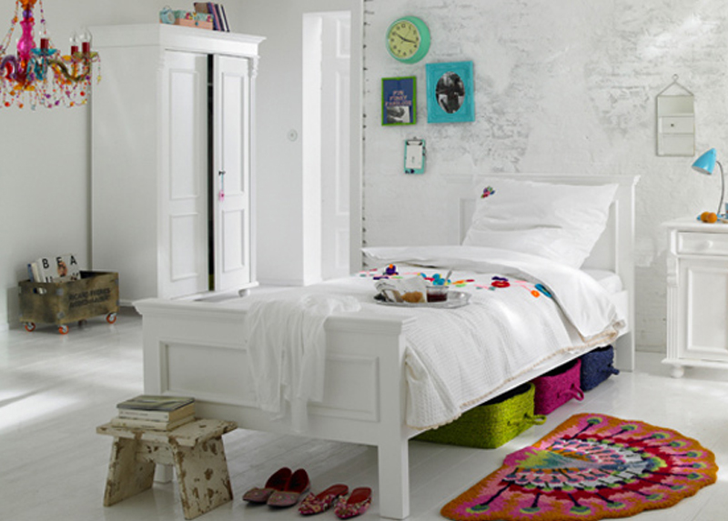 children's bedroom furniture - classic bed for little girl or boy