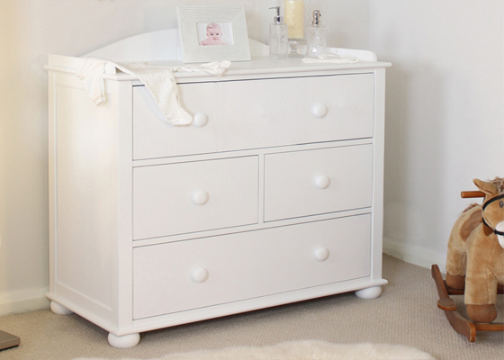 children's bedroom furniture - chest of drawers or baby compactum changing unit