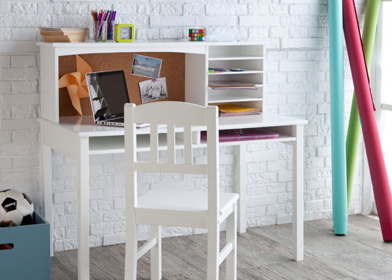 children's bedroom furniture - desks with storage shelves for boys and girls